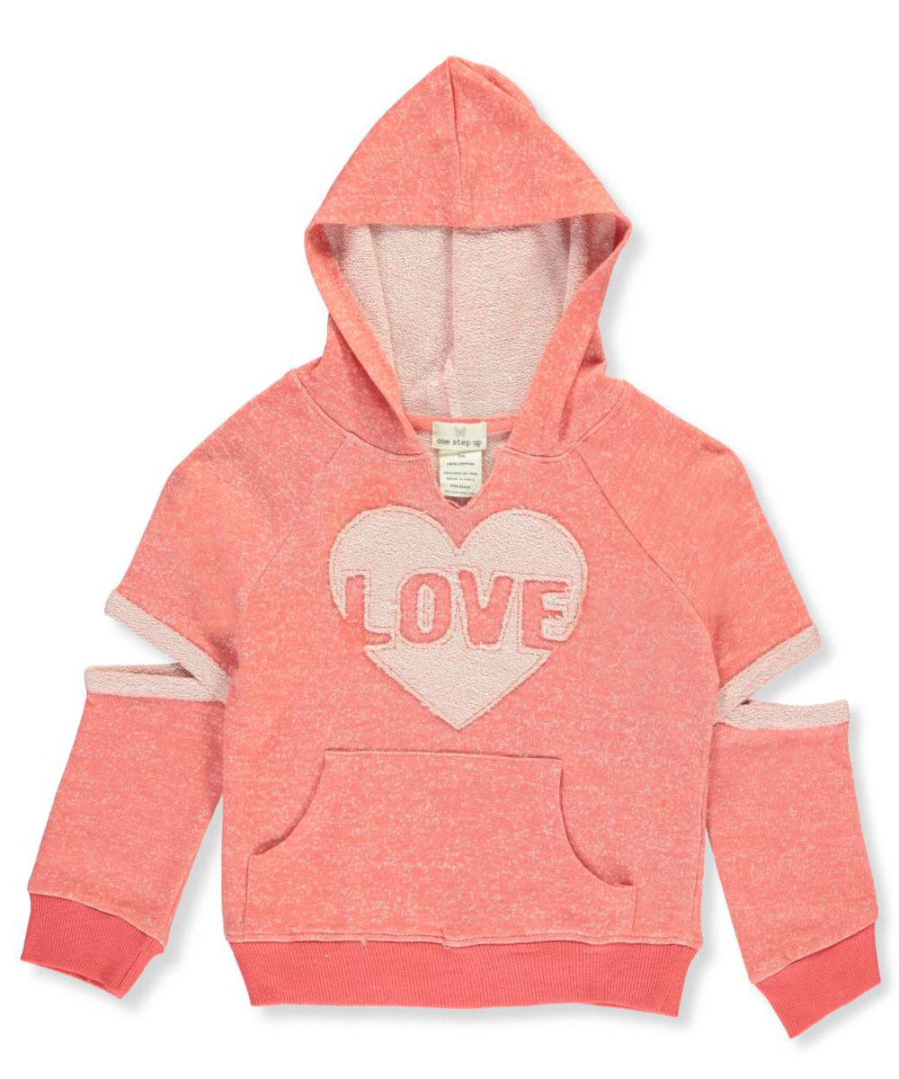 One Step Up Little Girls' Cutout Hoodie (Sizes 4 - 6X)