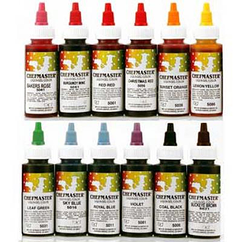 Chefmaster Liqua-gel Colour Variety Pack - 12 x 2.3 oz