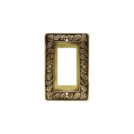 Brainerd 64047 Single Decorator Paisley Collection,Tumbled Antique Brass