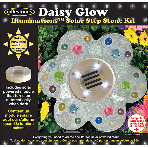 Milestones Illuminations Solar Step Stone Kit, Daisy Glow