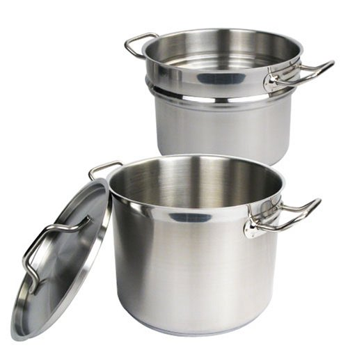 Stainless 8 Quart Double Boiler with Cover