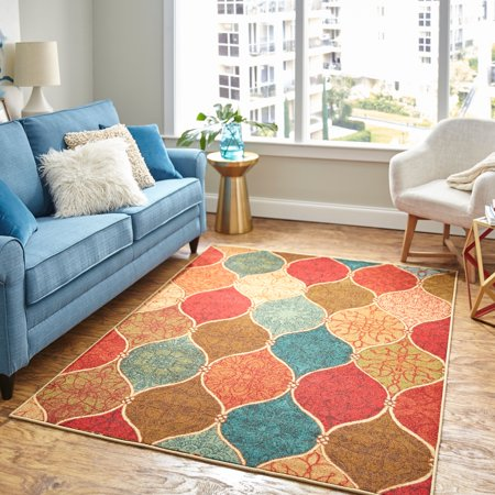 Mohawk Home Riza Tile Fret Multi Area Rug, 7'