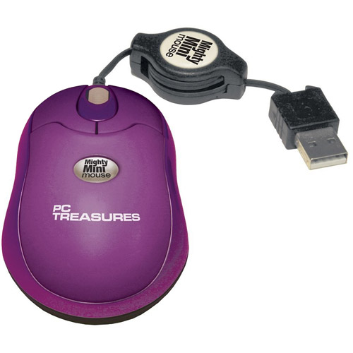 PC Treasures Retractable Mighty Mini Mouse, Purple