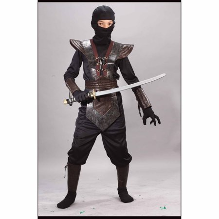 Ninja Fighter Leather Child Halloween Costume