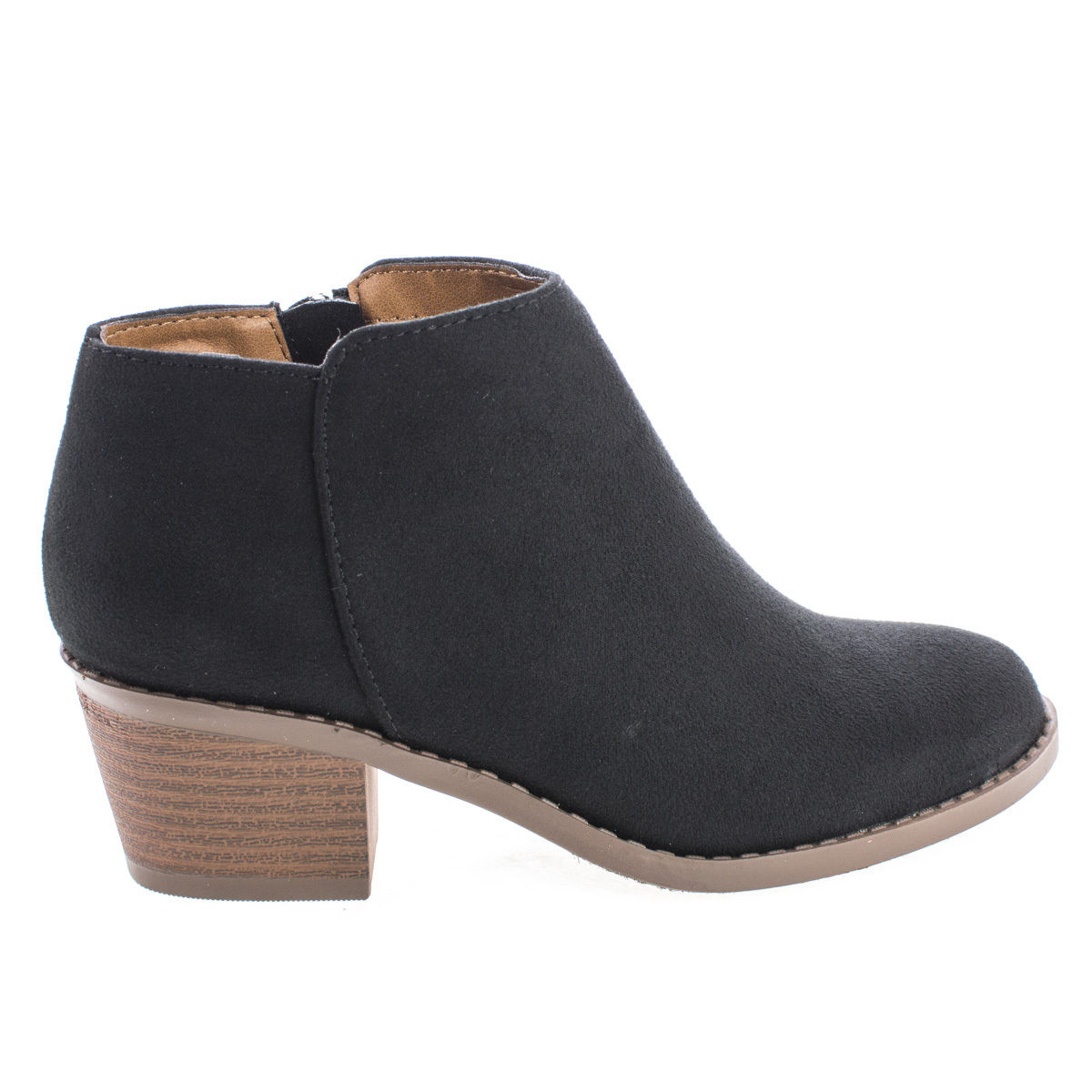 MugIIS by Soda, Girl's Round Toe Stacked Heel Ankle Boots, Children Little Girl's Shoes