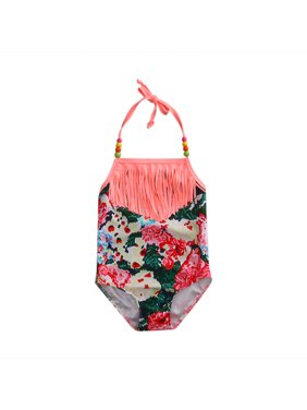 Baby Girls One Piece Swimwear Bow Tankini Bikini Swimsuit Bathing Suit Beachwear 80