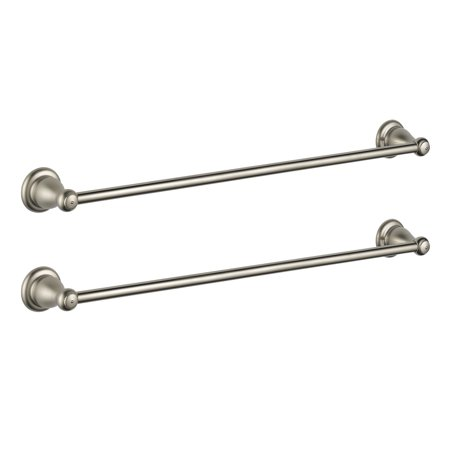Delta Faucets Leland Bath Collection 24 Inch Towel Bar, Stainless Steel (2 Pack) ()
