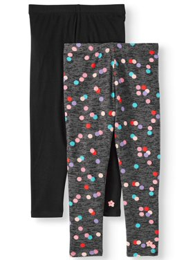 Limited Too Solid and Printed Knit Leggings, 2-pack (Toddler Girls)