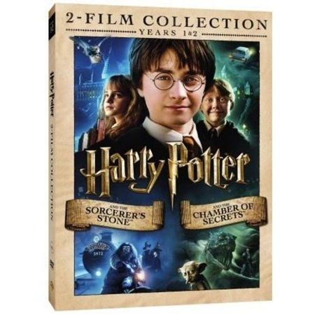 harry potter double feature years 1 and 2 the sorcerer 39 s stone the chamber of secrets dvd. Black Bedroom Furniture Sets. Home Design Ideas