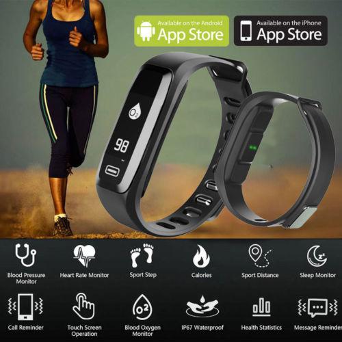 100% Brand New Smart Watch Wristband Sports Fitness Tracker Heart Rate Blood Pressure Monitor Smart sports bracelet