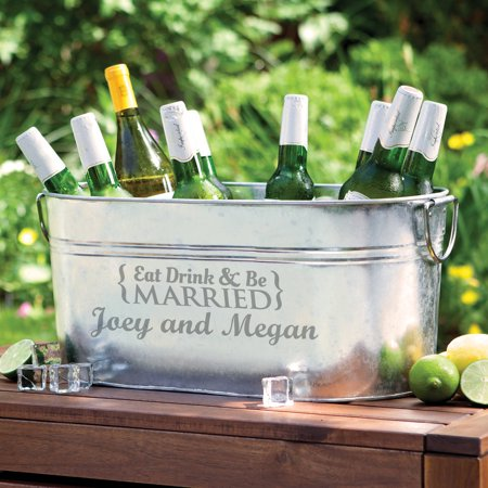 Personalized Eat, Drink and Be Married Beverage Tub ()