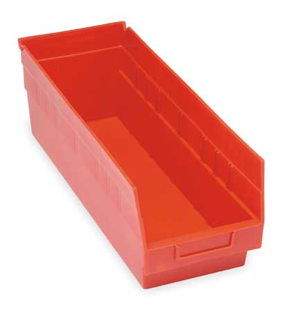 Quantum Storage Systems 50 Lb Capacity, Shelf Bin, Red QSB208RD