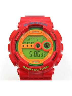 GD-100HC-4 Casio Watch Red G-Shock 200M WR Analog Digital X-Large Resin