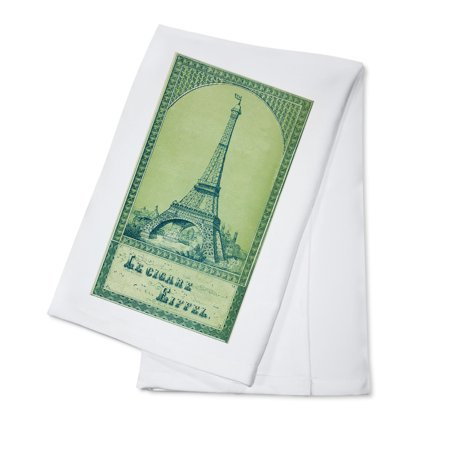 Le Cigare Eiffel Brand Cigar Box Label - View of the Eiffel Tower (100% Cotton Kitchen - Cigar Tower Antique