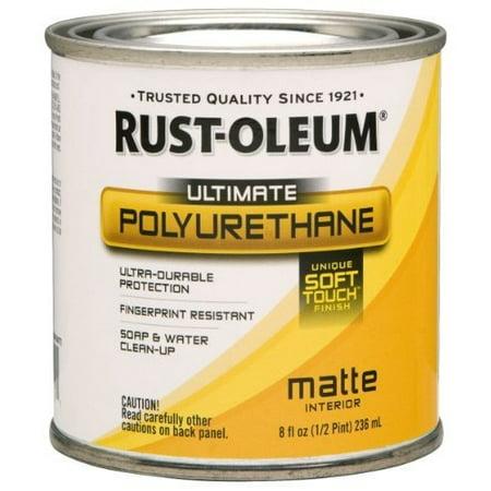 Soft Polyurethane - Rust-Oleum 260357 Soft Touch Polyurethane, Half Pint, Matte [Half Pint]
