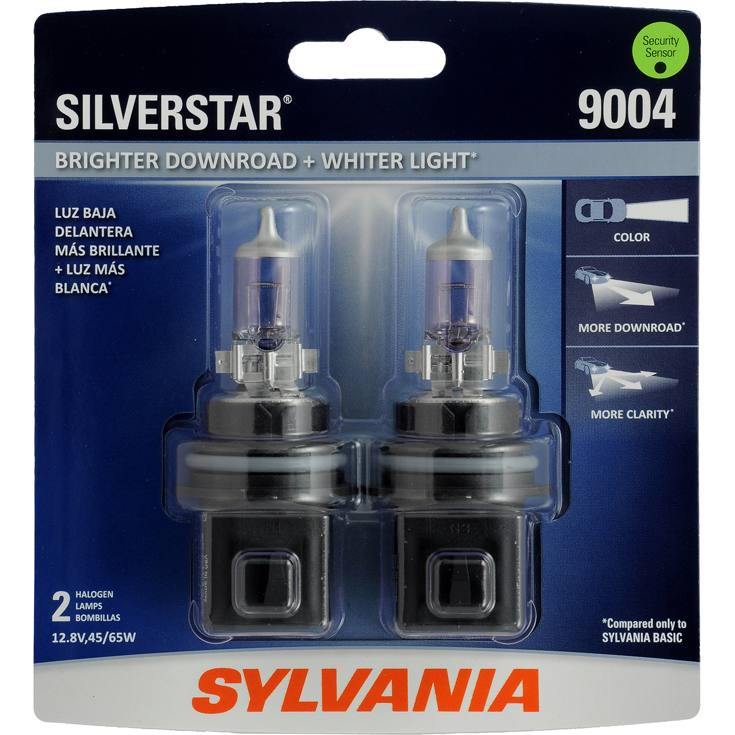 SYLVANIA 9004 SilverStar Halogen Headlight Bulb, Pack of 2