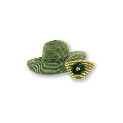 Sun Lily Foldable Sun Hat Green (Pack of 18)