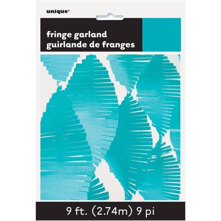 Tissue Paper Fringe Streamer Garland, 9 ft, Teal, 1ct](Fringe Garland)