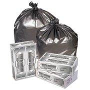 Pitt Plastics TI3947S Titanium Low-Density Can Liners, 40-45 Gal, 1.7 Mil, 39 X 47, Silver, 50/carton