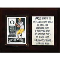 C&I Collectables NCAA 6x8 Marcus Mariota Oregon Ducks Career Stat Plaque