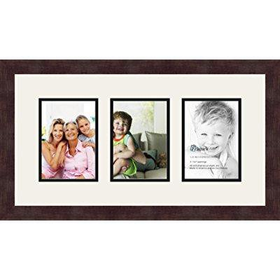 CreativePF 6 Opening Multi 5x7 Driftwood Picture Frame 10x32 White ...