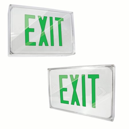 Fully Automatic Operation (eTopLighting [2 Pack] LED Exit Sign Emergency Light, Green Letter, Battery Back-up, Fully Automatic Operation, Ceiling or Wall Mounting, Side Mounting, WMLS4367 )