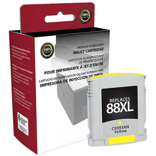 CIG Remanufactured High Yield Yellow Ink Cartridge (Alternative for HP C9393AN, C9388AN 88XL) (1 540 Yield)
