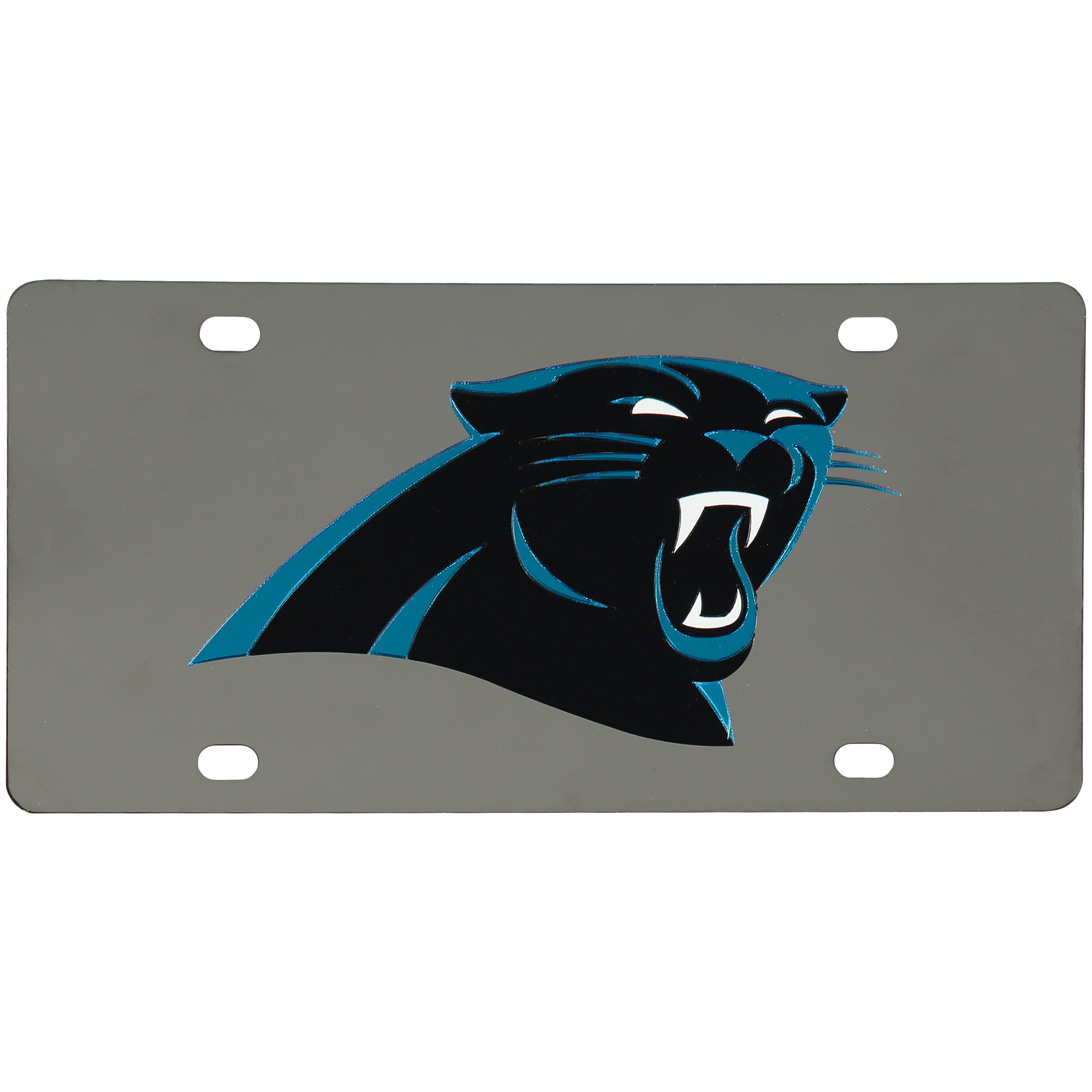 Carolina Panthers Stainless Steel License Plate - No Size