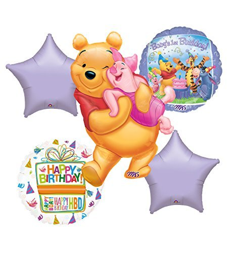 Winnie The Pooh Baby's First Birthday Party Balloon Bouquet Decorations
