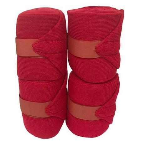 Jacks J19-WH Stall Acrylic Knit Bandages, White