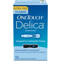 OneTouch Delica Extra-Fine Lancets, 33G, 100 Ct