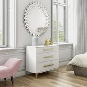 CosmoLiving by Cosmopolitan Karissa 3-Drawer Dresser, Multiple Colors