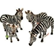 Schleich Zebra Family Figurine Set
