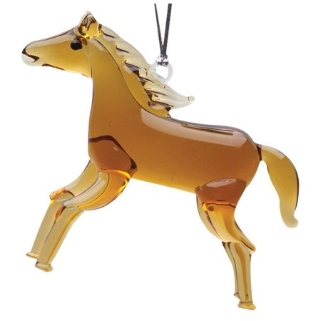 Hand Crafted Horse Glass Christmas Tree Ornament or Figurine