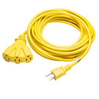 US Plug to 3 Outlets 25ft 16/3 SJTW Medium-Duty Power Outdoor Extension Cord