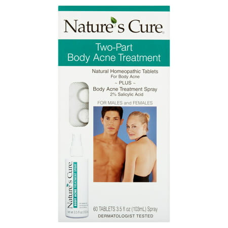 Nature's Cure Two-Part Body Acne Treatment for Males and