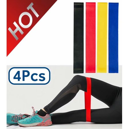 Resistance Loop Exercise Bands Set of 4 for Women Men Legs Butt Arms Shoulders Home Workout Yoga Rehab Physical
