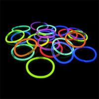 "Exquisite 50ct 8"" Glow Sticks Bracelets, Assorted Colors"