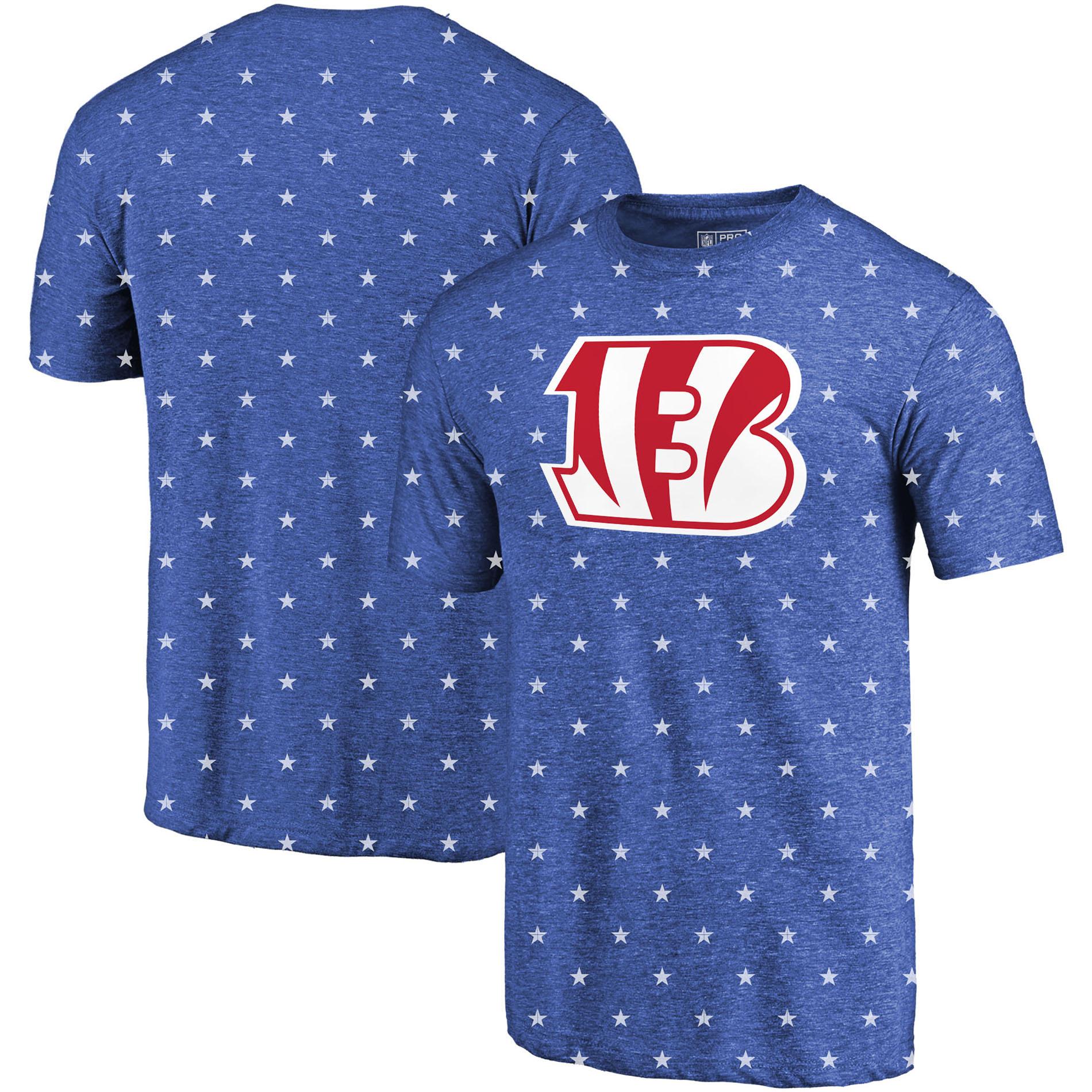 Cincinnati Bengals NFL Pro Line by Fanatics Branded Star Spangled T-Shirt - Royal