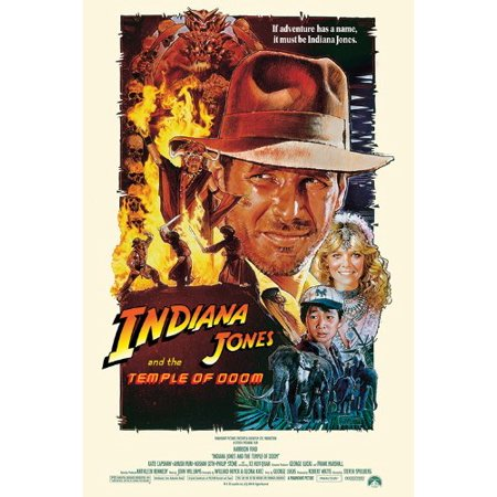 Indiana Jones And The Temple Of Doom - Group Credits Movie Poster New (Indiana Jones And The Temple Of Doom Script)