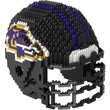 Forever Collectibles 3D BRXLZ Mini Helmet, Baltimore Ravens College Football Team Helmets