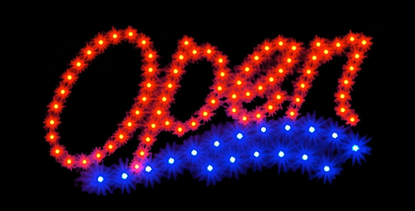 13 x 32 x 3 inches Moving Boxes Business Neon Sign Made in USA
