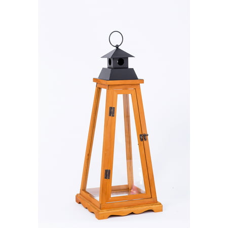 Better Homes & Gardens Woodworth Outdoor Wood Lantern - Large