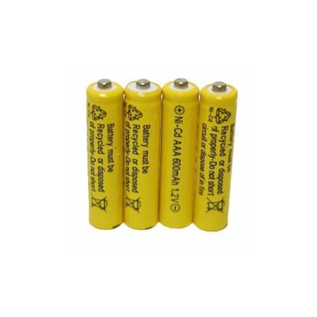 AA NiCd 600mAh 1.2V Rechargeable Battery, Set of 4 ()