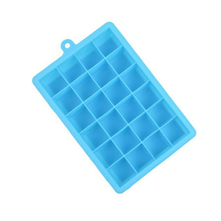 24 Grid Silicone Ice Cube Tray Molds DIY Desert Cocktail Juice Maker Square Mould Sky blue