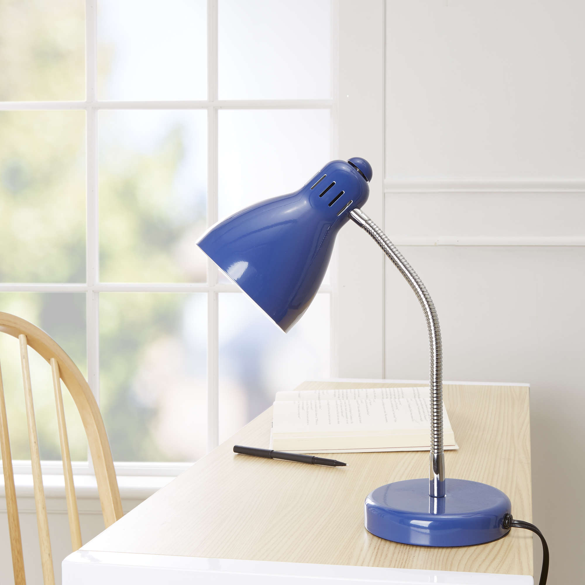 Mainstays Stadium Blue Desk Lamp, CFL Bulb Included
