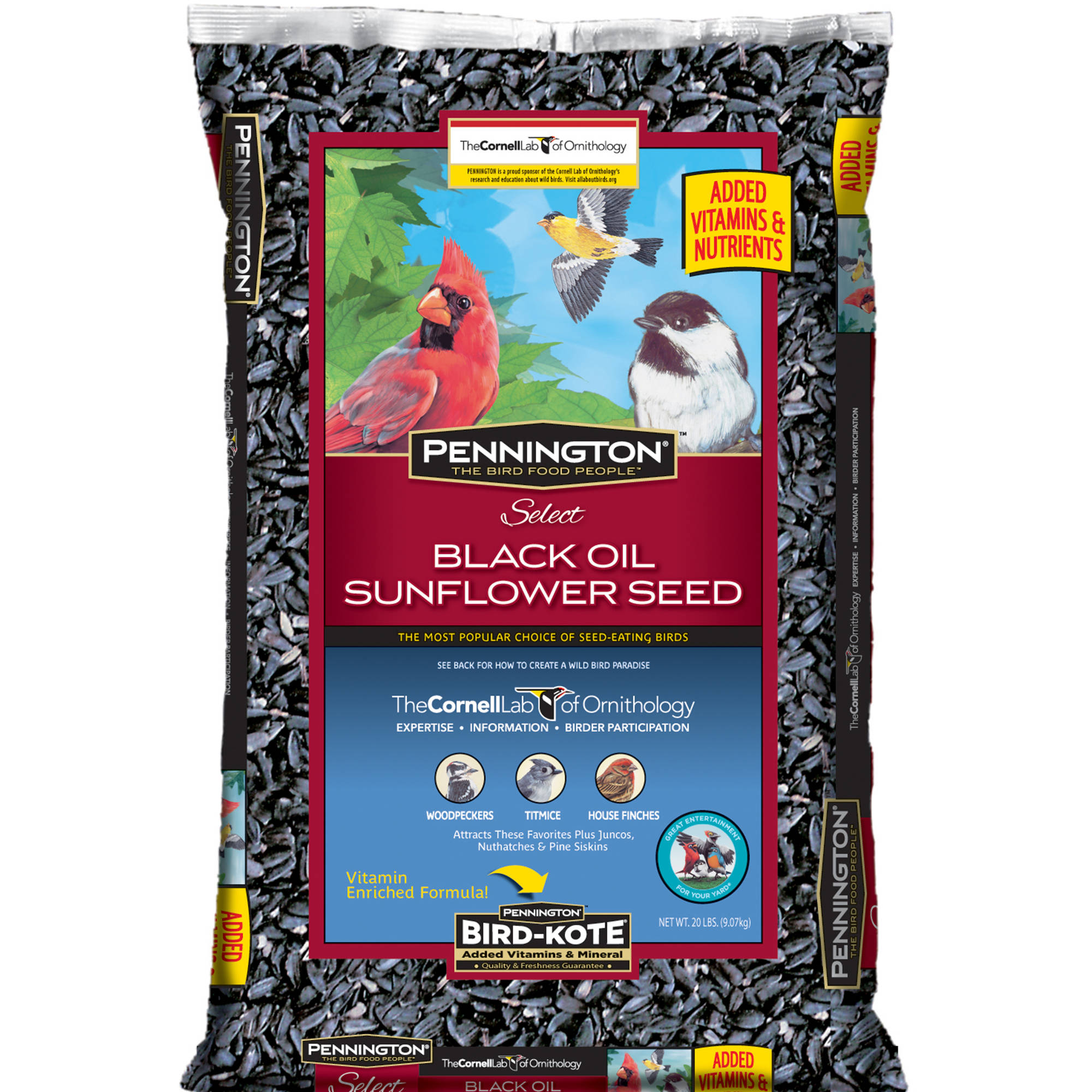 Pennington Select Black Oil Sunflower Seed Wild Bird Feed, 20 lbs