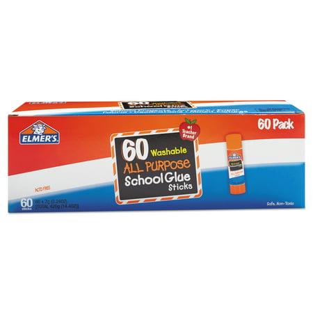 Elmer's All Purpose School Glue Sticks, Washable, 7 Gram, 60 Count