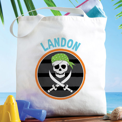 Personalized Pirate Tote Bag
