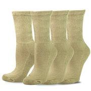 TeeHee Viscose from Bamboo Diabetic Crew Socks 3-Pack (9-11, Navy)